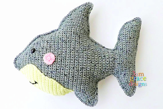 shark Kawaii Pillow Cuddler Crochet Pattern