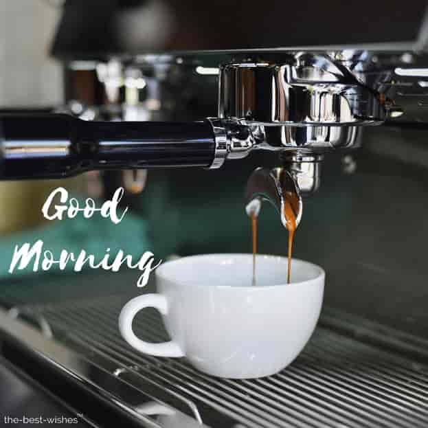 good morning images with coffee cup machine