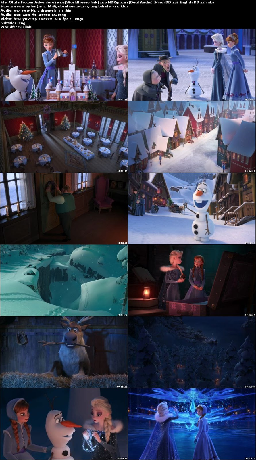 Screen Shoot of Olaf's Frozen Adventure 2017 HDRip 720p Dual Audio Hindi English