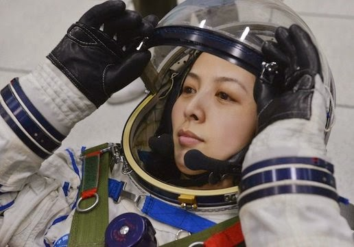 Astronaut from China Wang Yaping set helmet on Earth