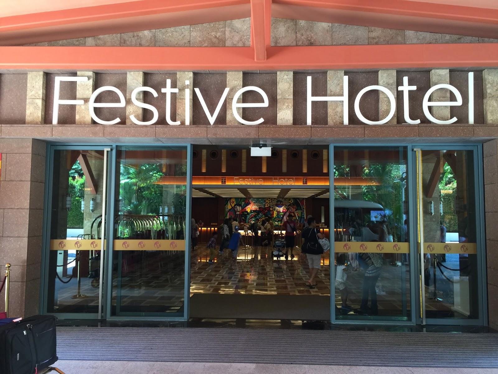 observe the world around: resort world sentosa festive hotel