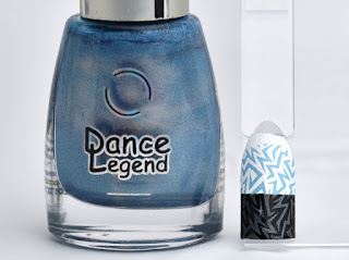 Regular nail polish stamping swatches /  [Dance Legend] High Voltage, スタンピングネイル