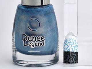 Regular nail polish stamping swatches /  [Dance Legend] High Voltage, スタンピングネイル