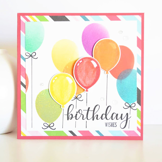 Sunny Studio Stamps: Birthday Balloon Customer Card Share by Kim Brown-Blyleven