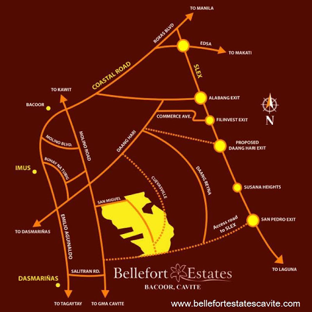 Location Map at Bellefort Estates Bacoor Cavite