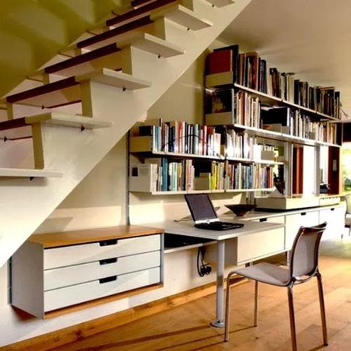 Aprovechar el espacio bajo las escaleras colores en casa for Muebles bajo escalera fotos
