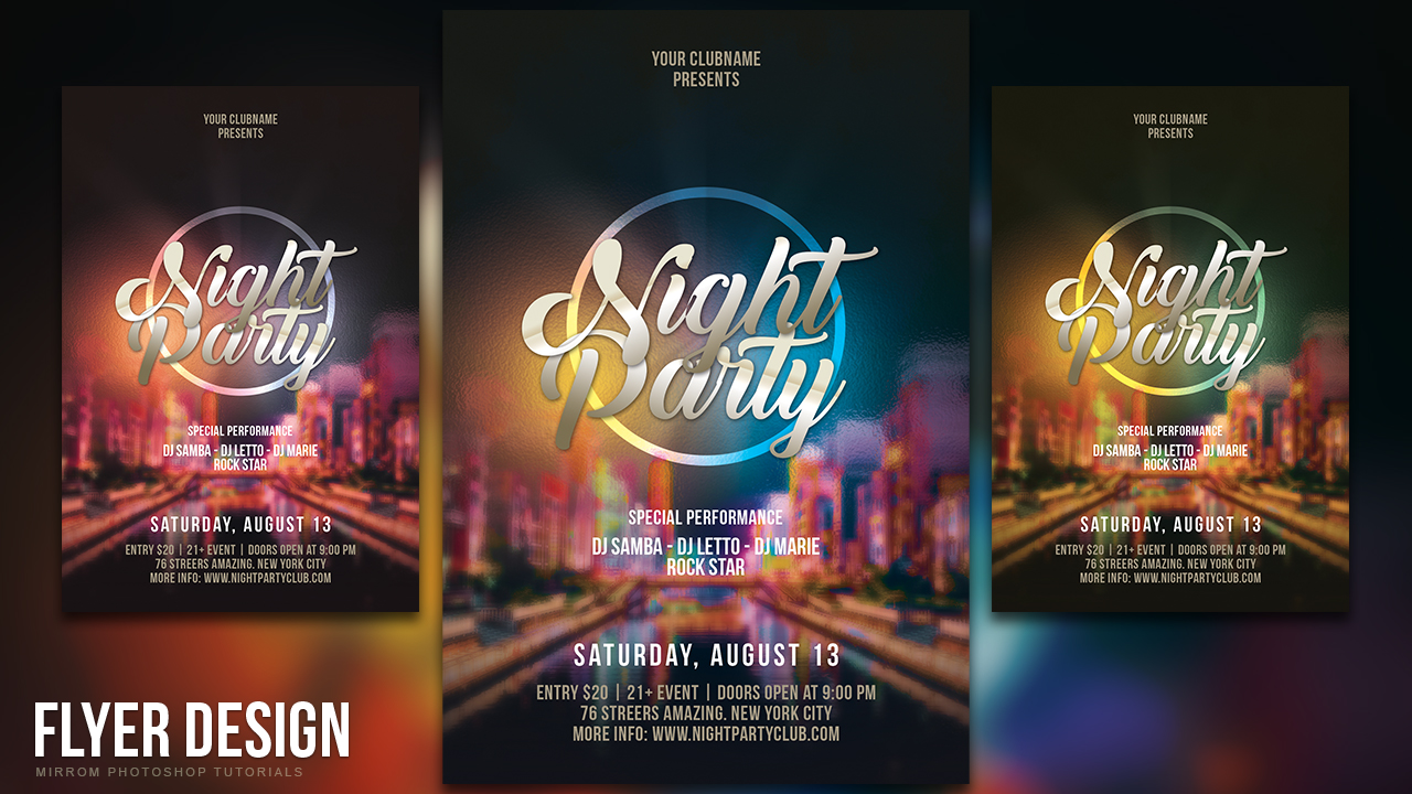 How to Design a Night Party Flyer in Photoshop CC