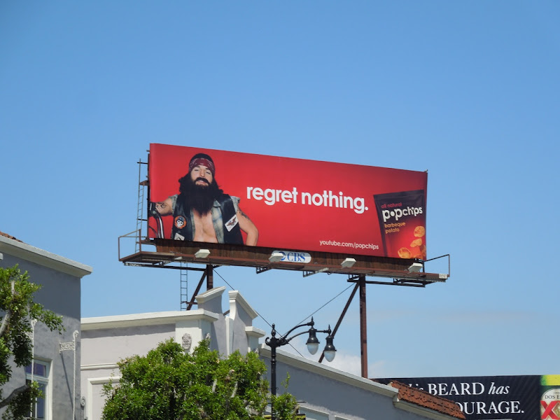 Regret Nothing Popchips billboard