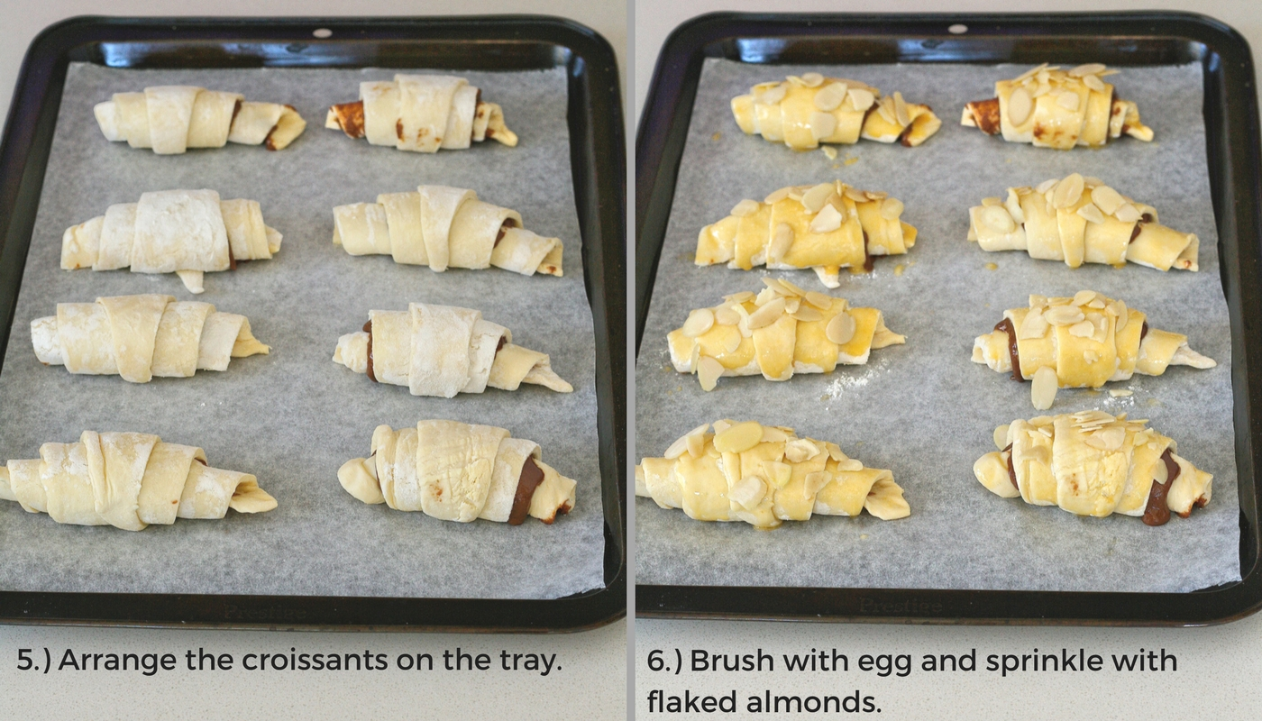 DIY chocolate croissants.