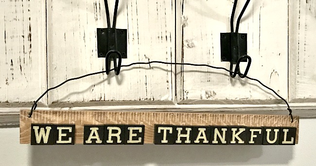 vintage anagram tile sign for thanksgiving
