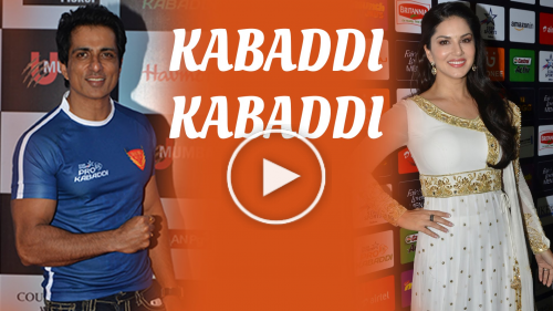 Sonu Sood and Sunny Leone for Pro Kabaddi Women's