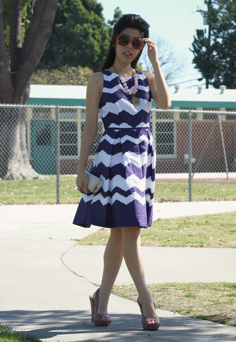 How To Wear a Purple Dress for a Daytime Event_Adrienne Nguyen
