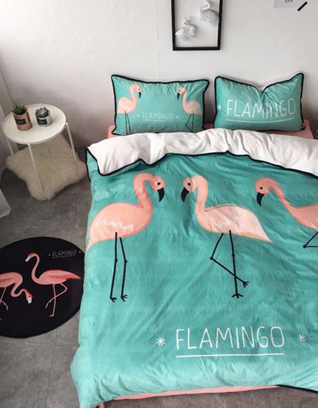 cobertor de flamingo inspiração