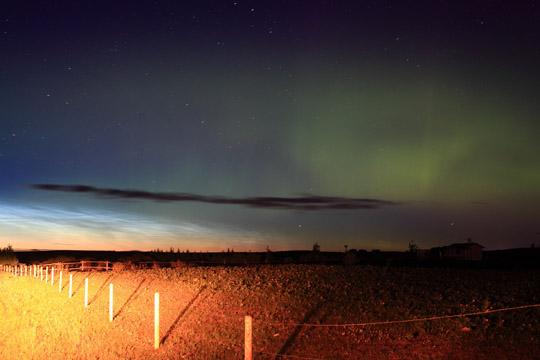 A hét csillagászati képe - Világító felhő és sarki fény