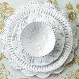 Home Sweet Home: Embossed Dinnerware
