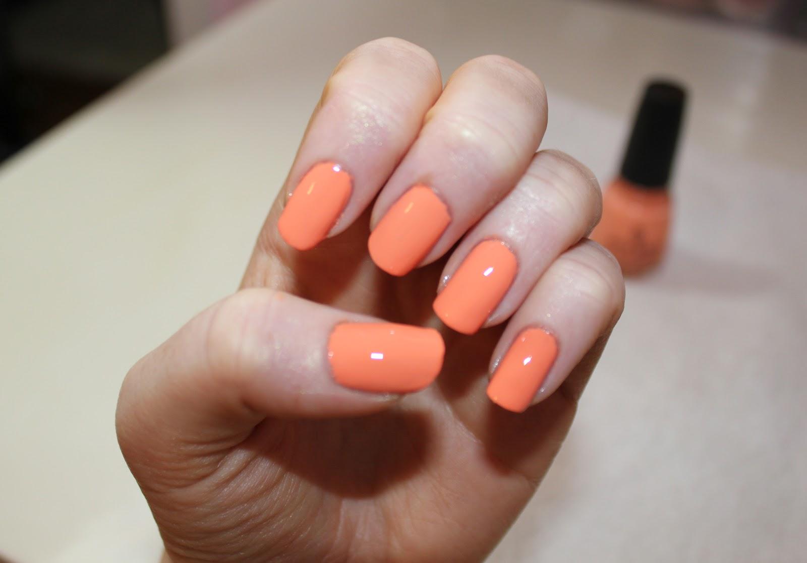 3cba2f133185b Beautybaby44  Nail of the Day  China Glaze Peachy Keen