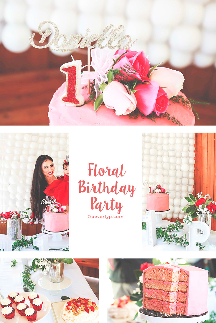 floral birthday party theme