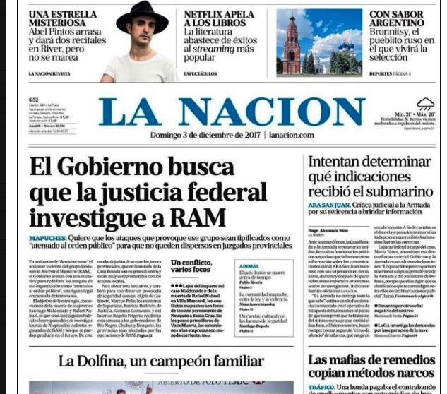Medio argentino se suma a pronunciamiento similar de El País de España