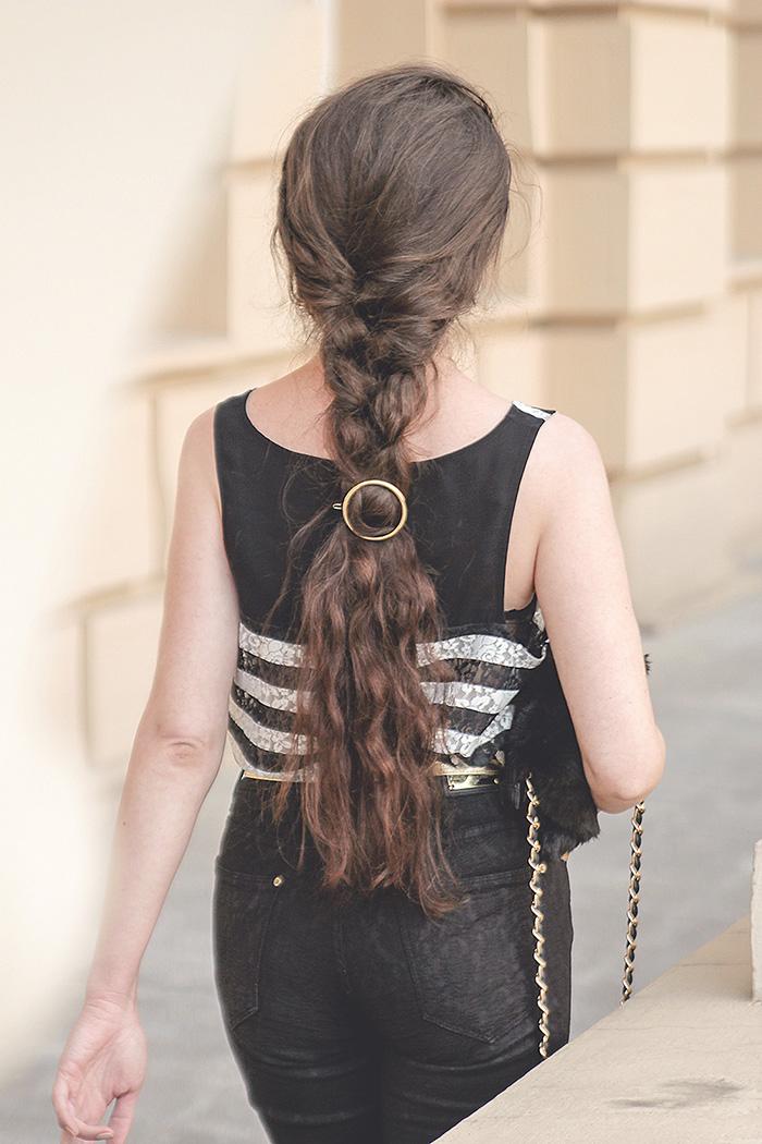 circle barrette okrągła spinka do włosów hairstyle