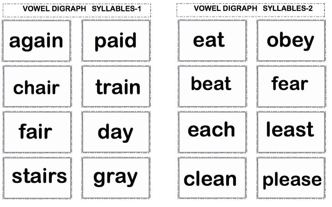"LANGUAGE ARTS – ""BINGO with Vowel Digraph & Diphthong Words"" – The ..."