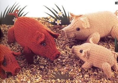 cochon au tricot