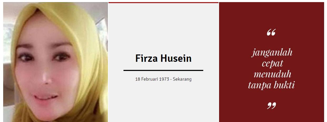 inilah kisah Firza Husein dan Riziq Shihab baladacintarizieq