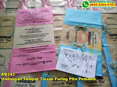 Grosir Undangan Tempat Tissue Furing Pita Pemanis