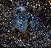 Pillars of Creation in the Infrared