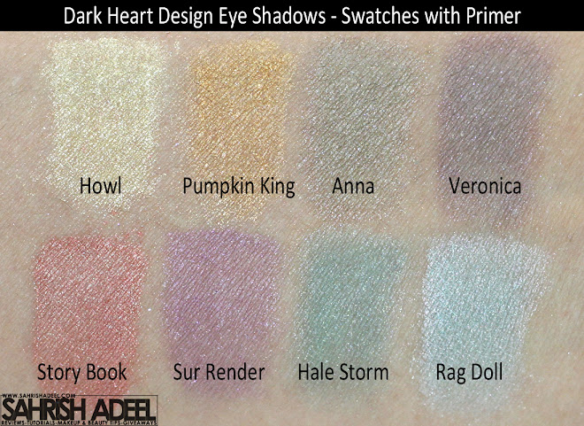 Dark Heart Designs Loose Eye Shadows - Review & Swatches