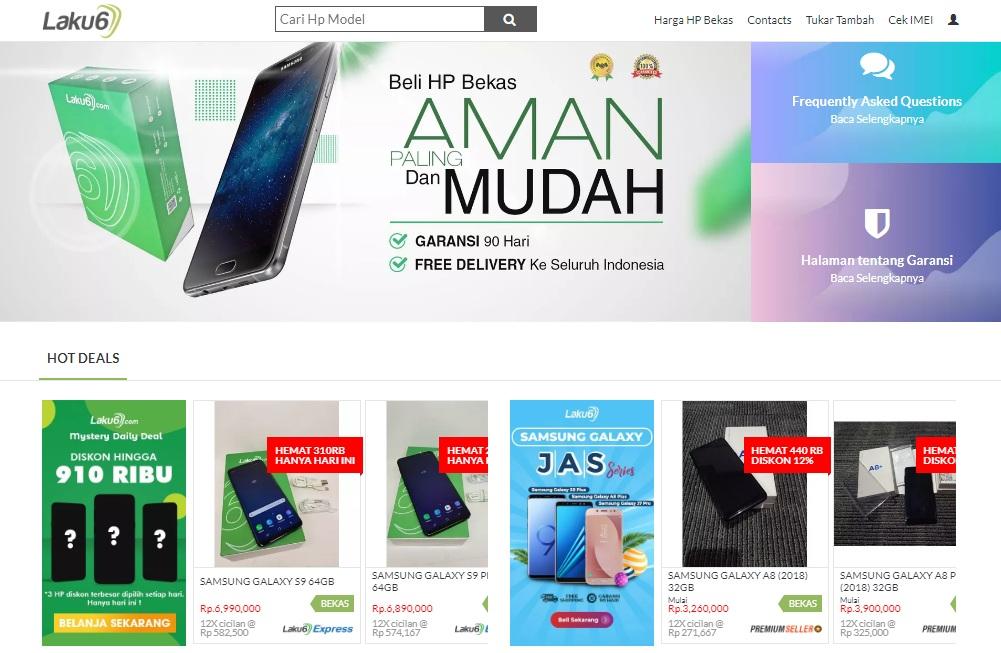 Cara Bayar & Beli di Laku6.com, Jual Beli Hp Bekas Murah Original