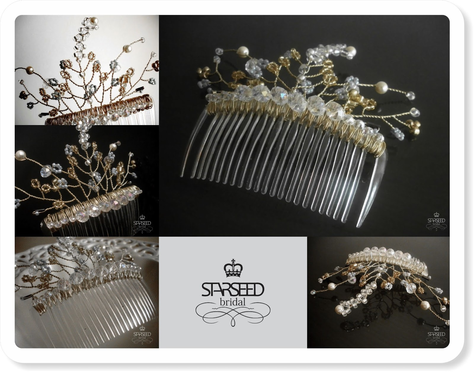 starseed handmade jewelry: bridal hair accessories and jewelry