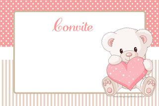 Kit de Osita Bebé con Corazón Rosa para Imprimir Gratis.