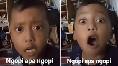 Viral Video Bocah Ngopi Woy Ngopi, Diem-diem Bae!!!