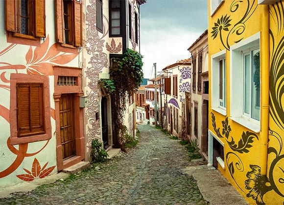 Street on Cunda Island, Turkey