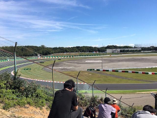 F1日本グランプリ2017 Nエリアからスプーンカーブを望む
