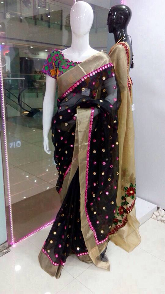 8bd9563218864 ... family function by wearing this pure kota saree with mirror work  Fashioned with an eye-catching design