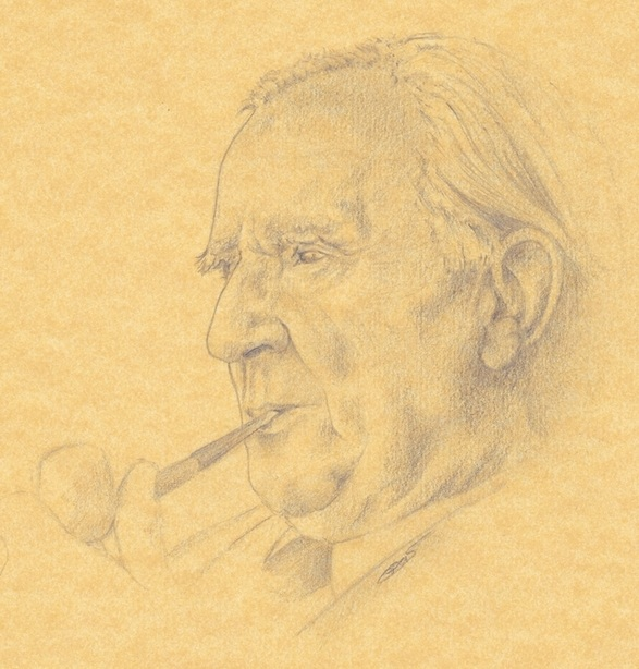 Portrait of J.R.R. Tolkien, by Pascal Legrand