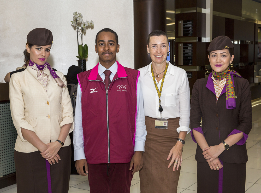 Amb. Saeed ZAKI, Ms. Coppell and Etihad Staff
