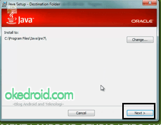 Menentukan folder instalasi JDK (Java Development Kit)