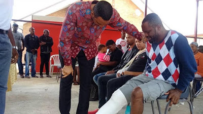 Xenophobia: Popular pastor visits Nigerian victims in South Africa
