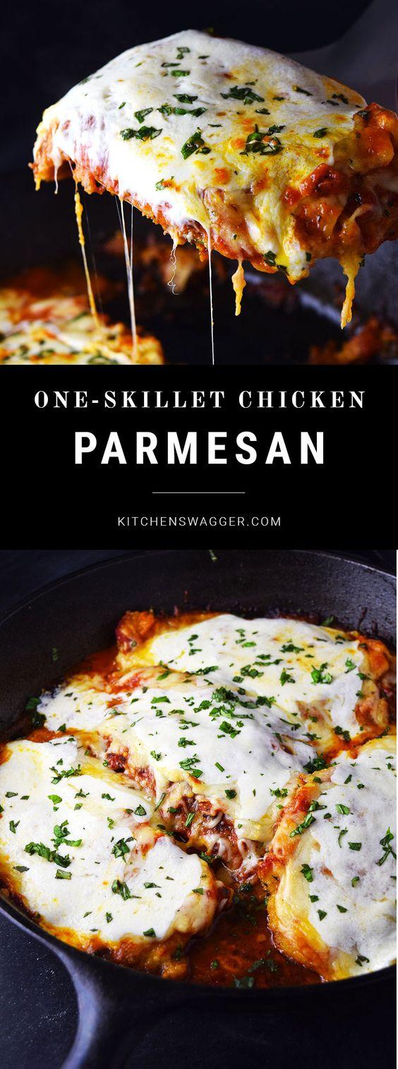 One-Skillet Chicken Parmesan Recipe For Dinner