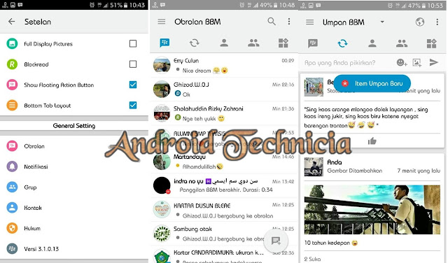 5 BBM Mod Terbaru Versi 3.1.0.13 Apk Terbaik