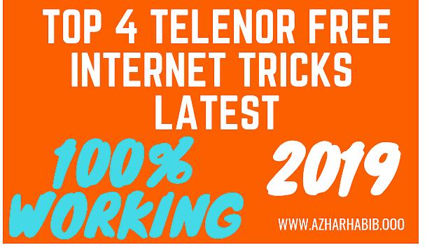 Telenor 3G/4G Free Internet Tricks 2018 (latest 3 working methods)