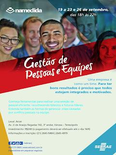 Teresópolis RJ Sebrae-RJ curso Gestão de Pessoas e Equipes Na Medida