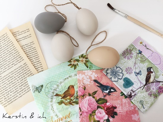 DIY Ostern Deko Eier Buchseiten Servietten