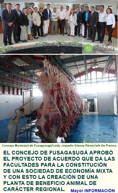 LA REGIÓN DEL SUMAPAZ PUEDE CONTAR CON UNA PLANTA DE BENEFICIO ANIMAL DE CARÁCTER REGIONAL