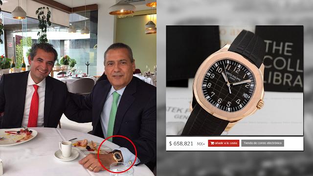 658,821 Mil Pesos, Costo El Reloj Que Usa El Ex Presidente Nacional Del (PRI) Manlio Favio Beltrones.