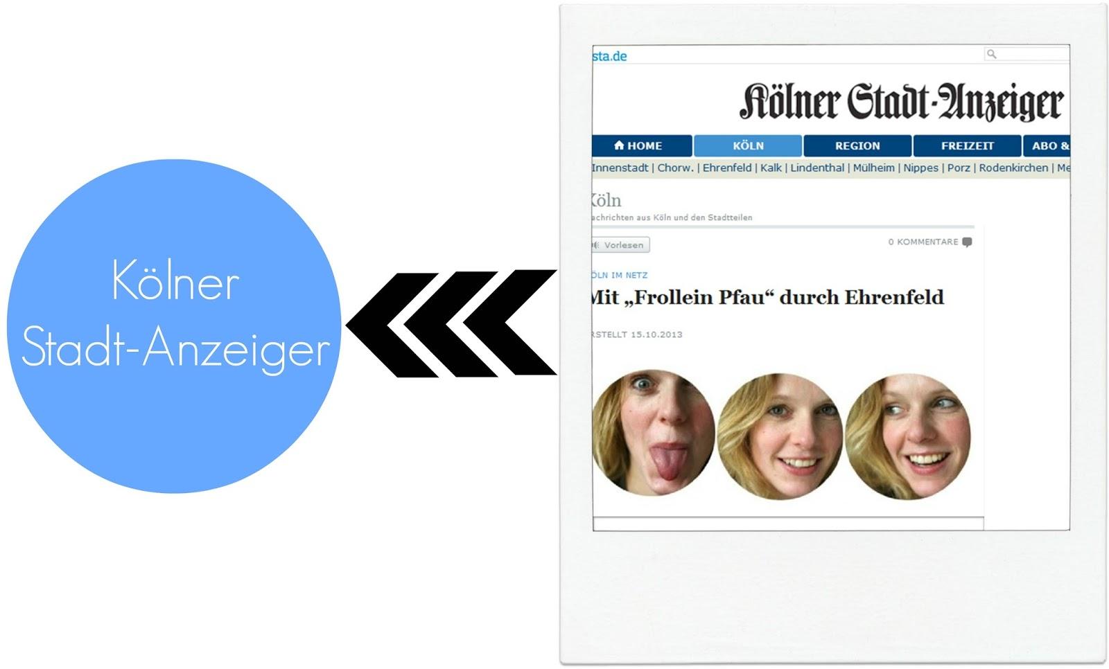 KSTA, Kölner Stadt-Anzeiger, Frollein Pfau, Ehrenfeld, Blogger, Veedel, Café Schwesterherz, Köln, Ausgehen, Veedel