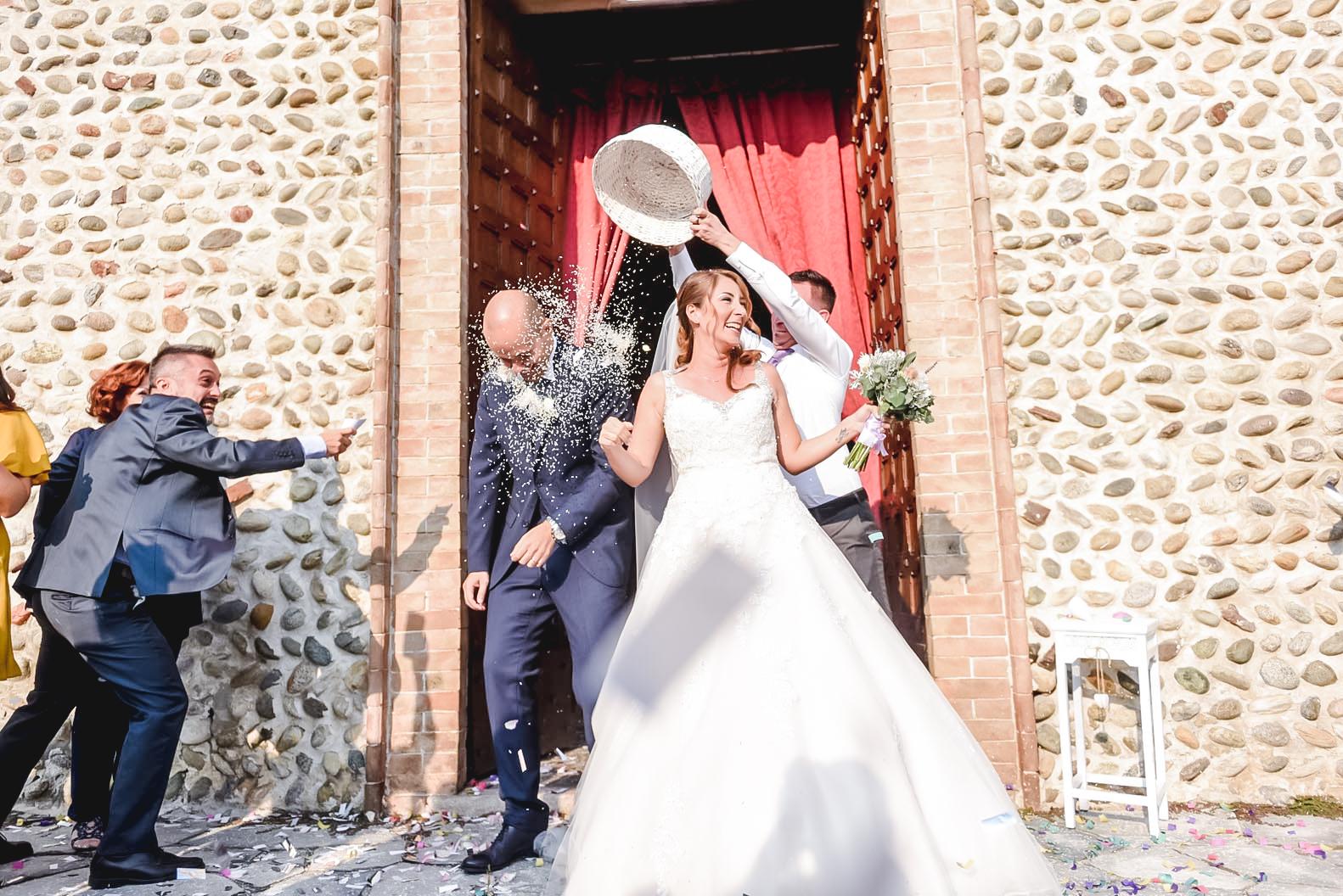 Sparacoriandoli e lancio del riso matrimonio