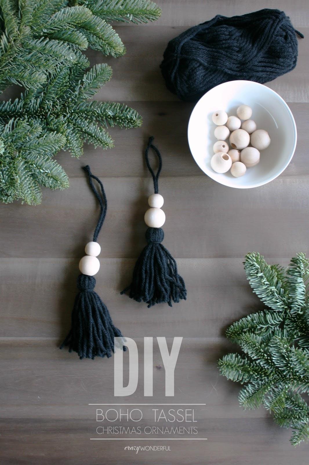 Diy Boho Christmas Ornaments Crazy Wonderful